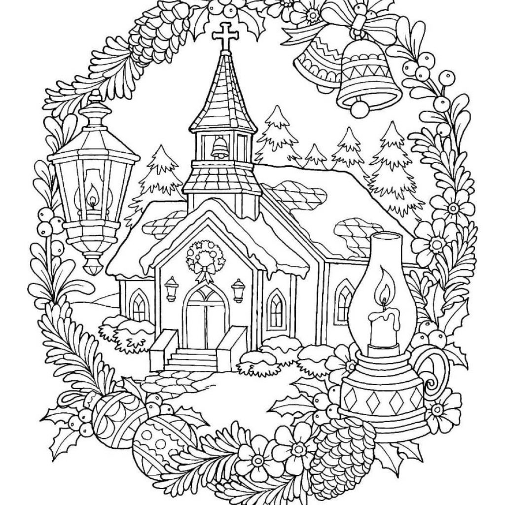 Christmas Coloring Pages For Church With Page Color Pinterest