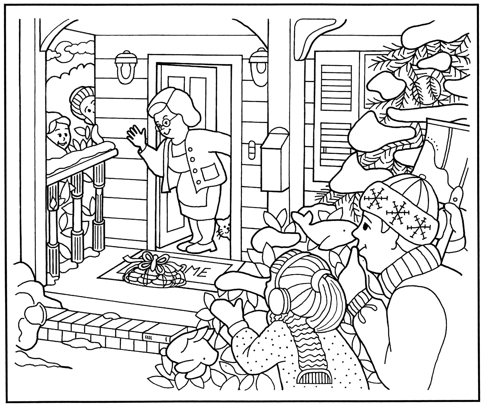 Christmas Coloring Pages For Elderly With Finding Cookies