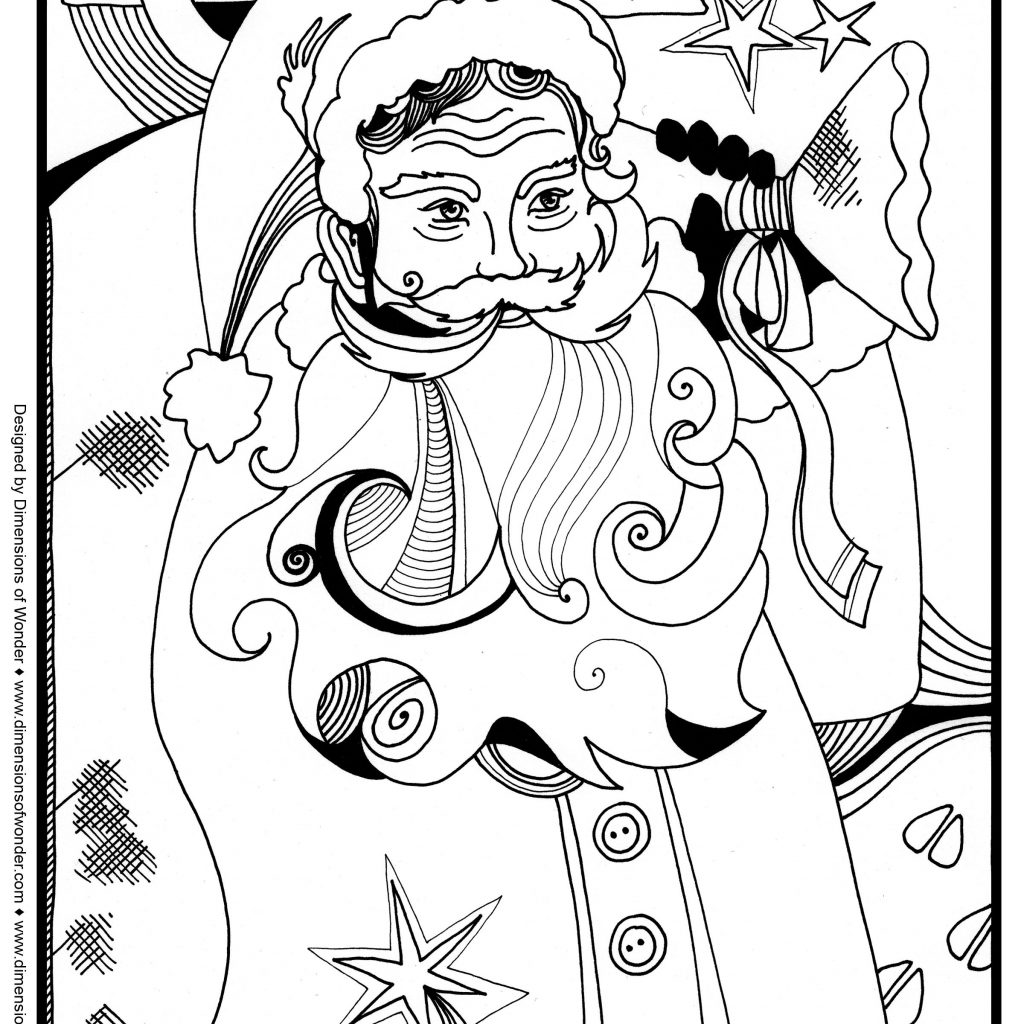 Christmas Coloring Pages For Elderly With Santa Around The World Kidsfreecoloring Net