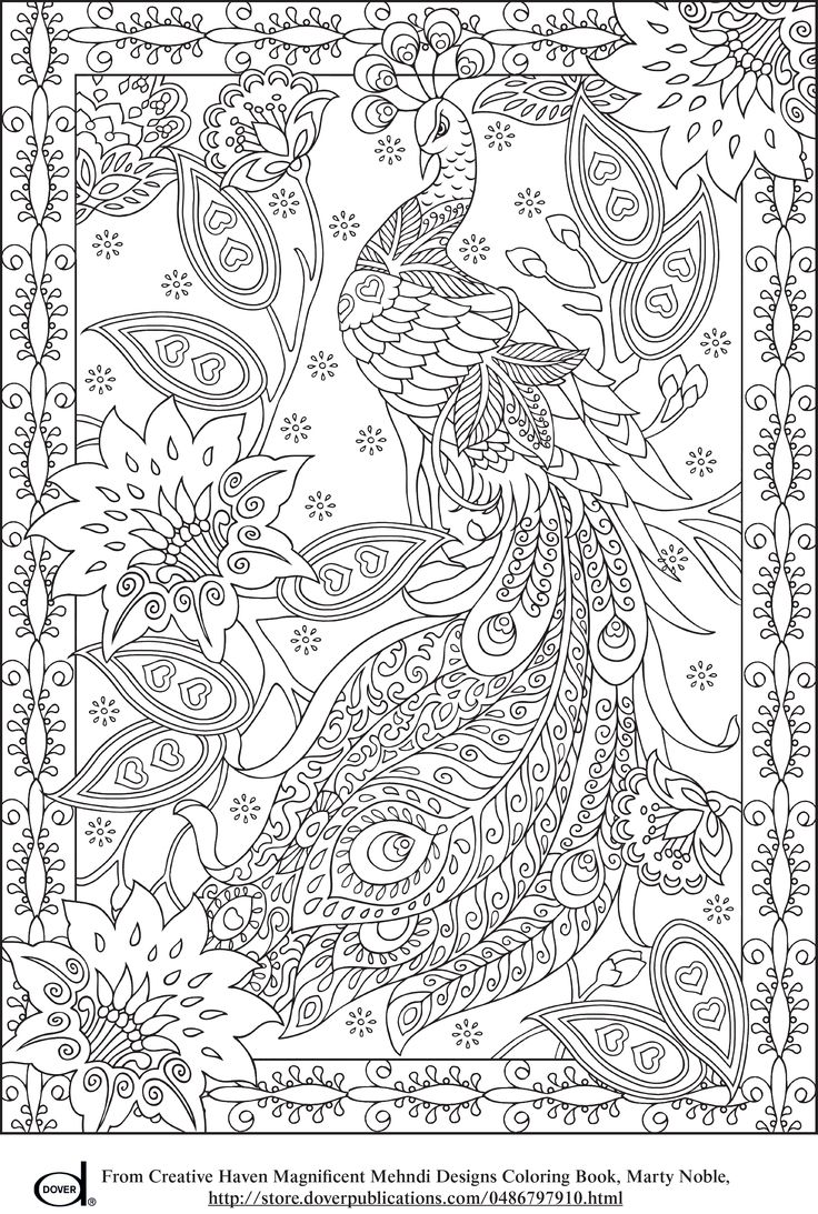 Christmas Coloring Pages For Free Online With Peacock Feather Colouring Adult Detailed Advanced
