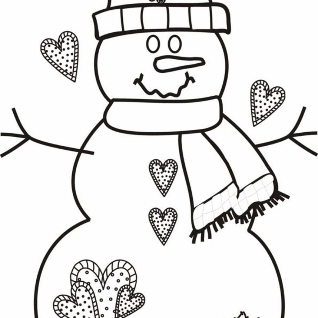 Christmas Coloring Pages For Free With Unique Cartoon Design Printable