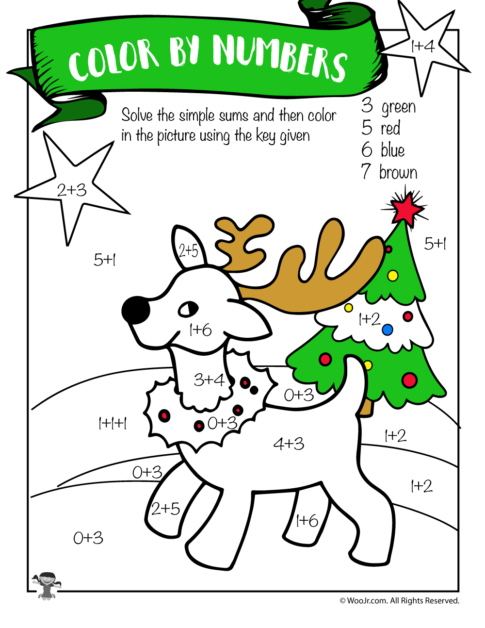 Christmas Coloring Pages For Grade 6 With Free Printable Math Worksheets Pre K 1st 2nd