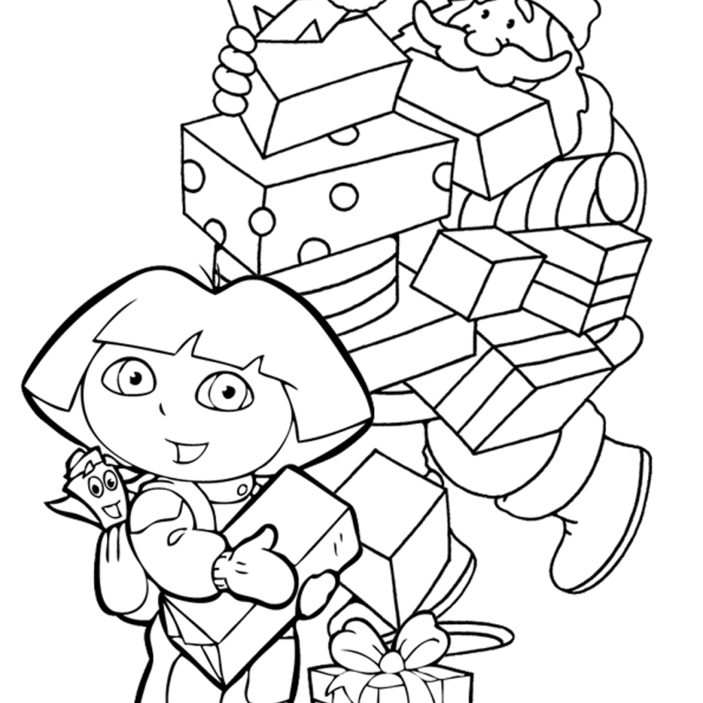 Christmas Coloring Pages For Highschool Students With Dora Free