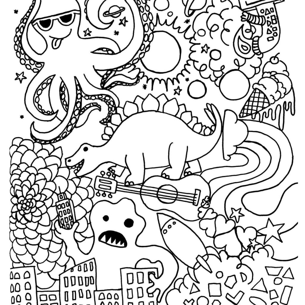Christmas Coloring Pages For Highschool Students With Printable