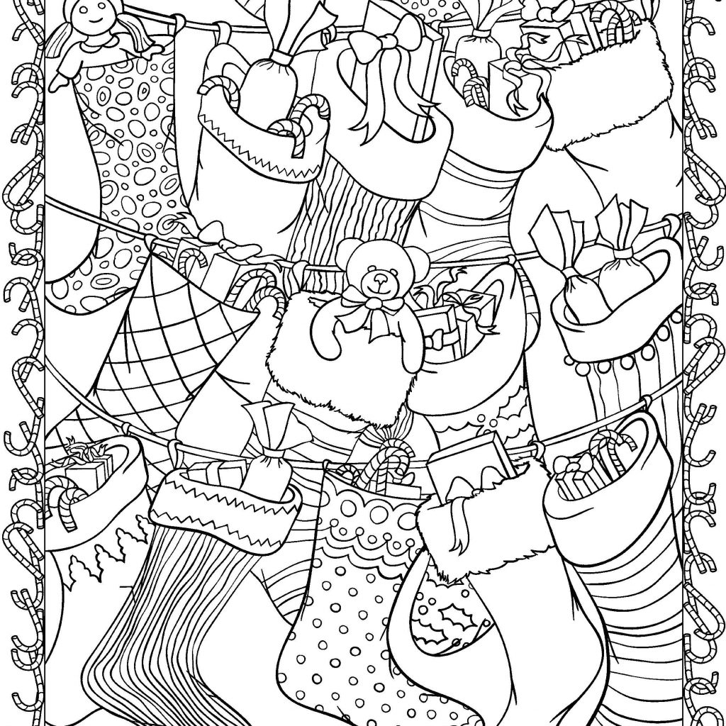 Christmas Coloring Pages For Intermediate Students With Faber Castell Adults