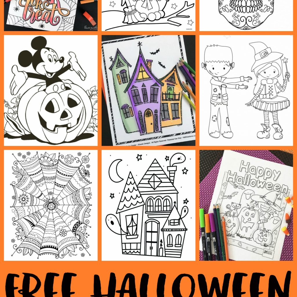 Christmas Coloring Pages For Intermediate Students With FREE Halloween Adults Kids Happiness Is Homemade