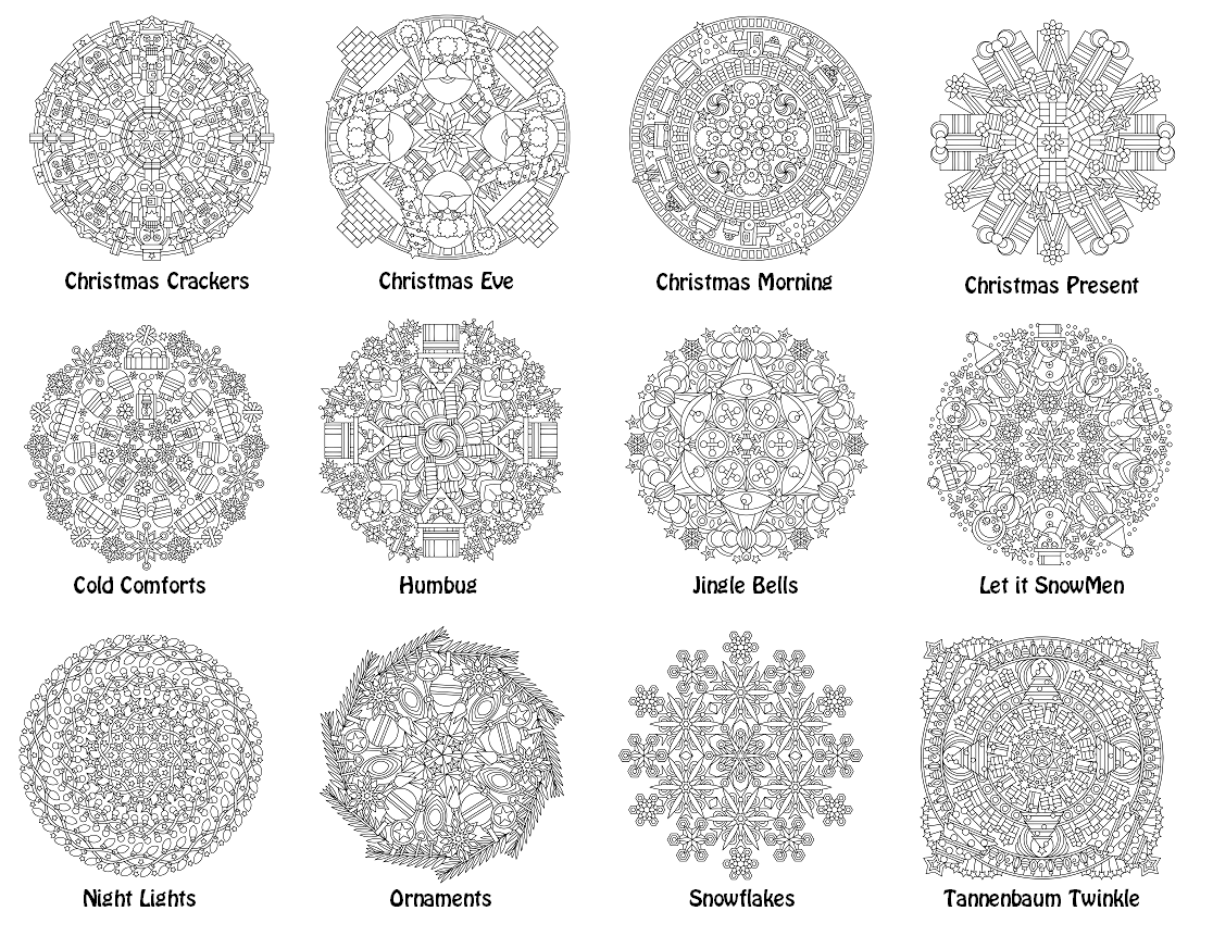 Christmas Coloring Pages For Intermediate Students With Mandalas Book PDF