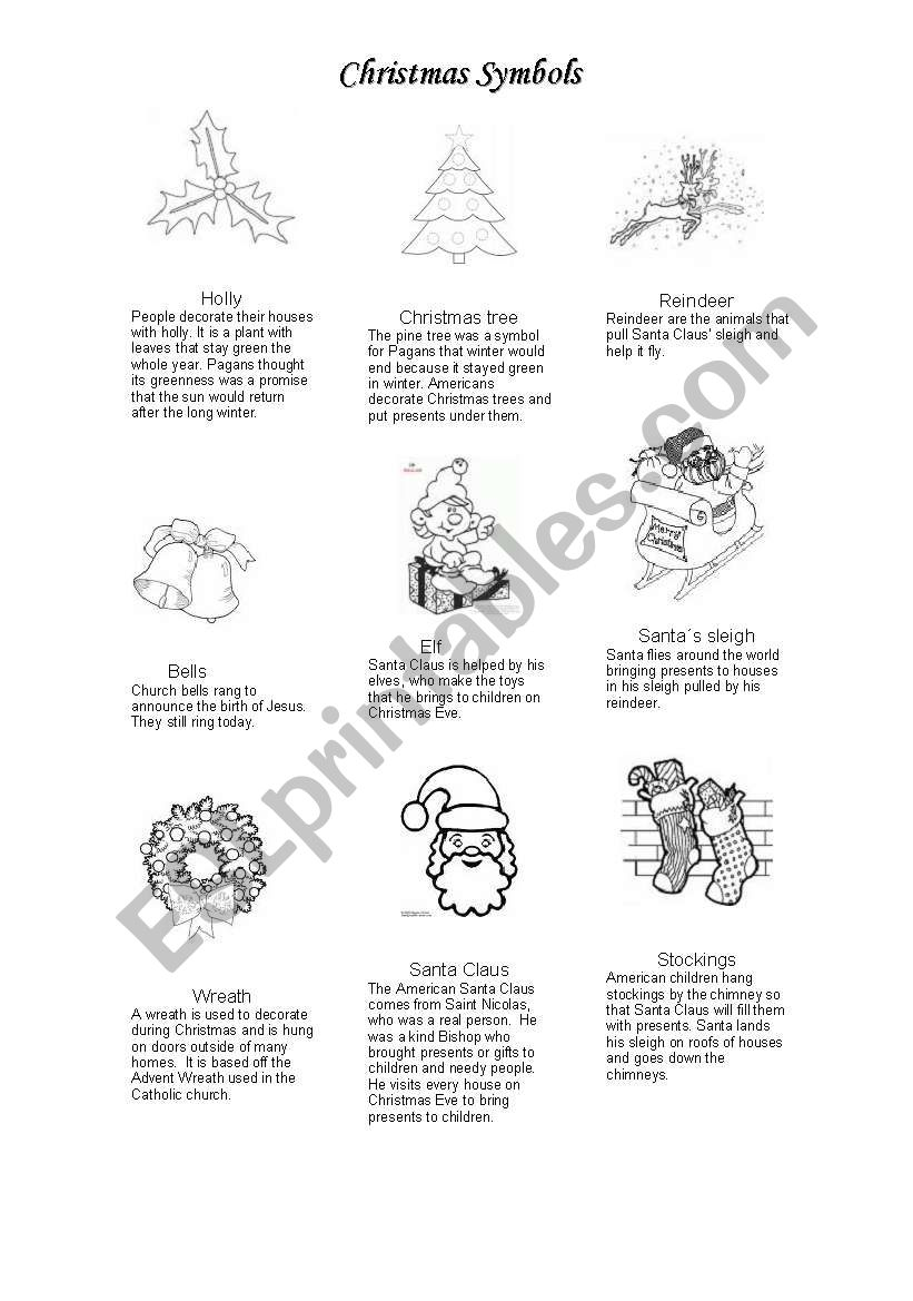 Christmas Coloring Pages For Intermediate Students With Symbols Page ESL Worksheet By Gandhi Nina