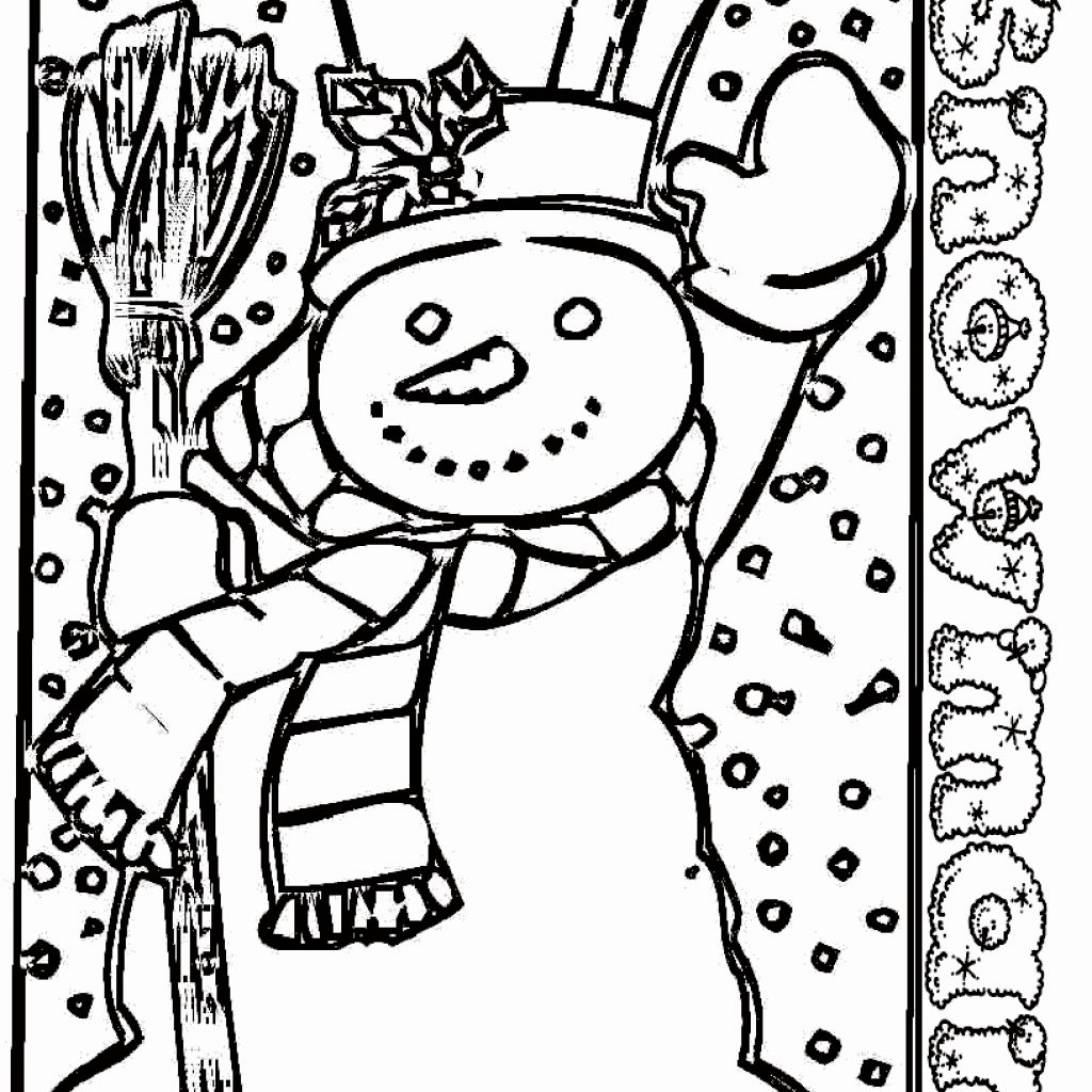 Christmas Coloring Pages For Kindergarten Students With Love At Lovely