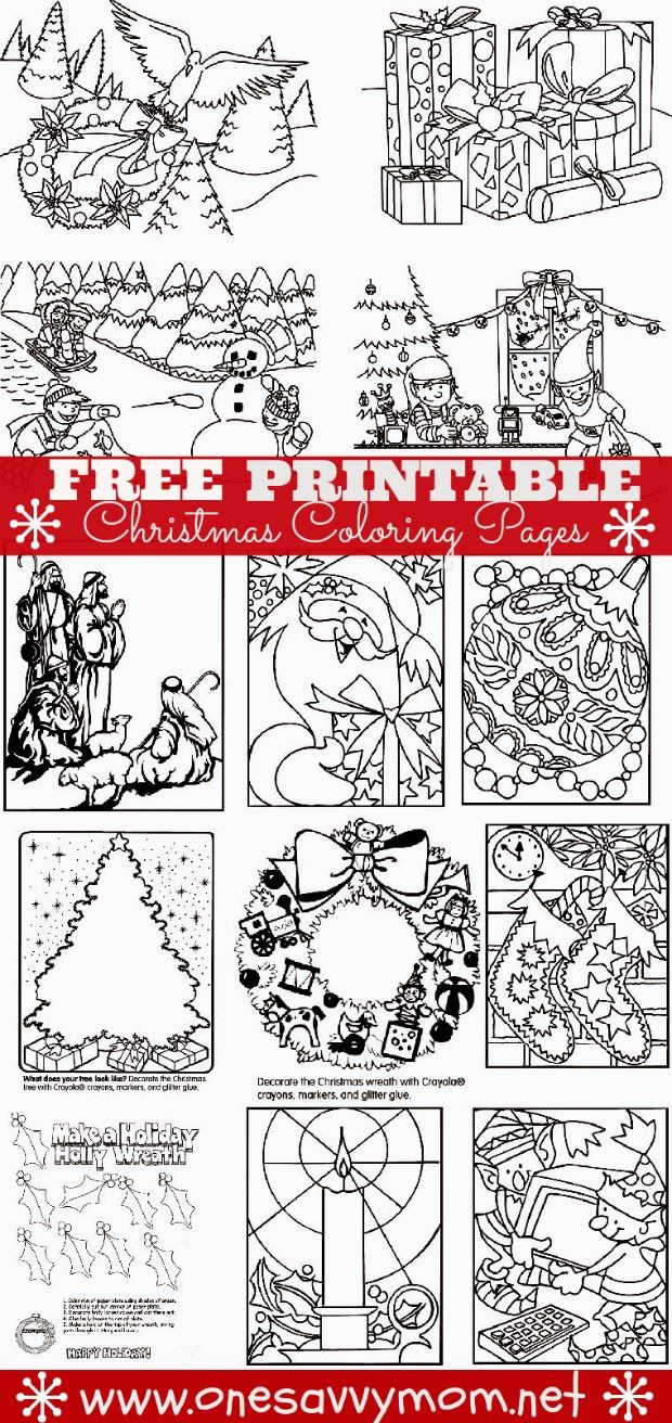 Christmas Coloring Pages For Mom With Free Printable Holiday Print At One Savvy