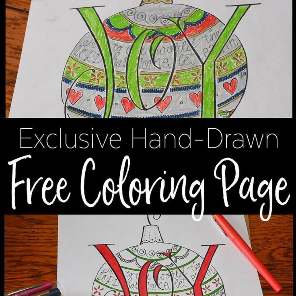 Christmas Coloring Pages For Mom With Our Beautiful Exclusive JOY Page Encouraging
