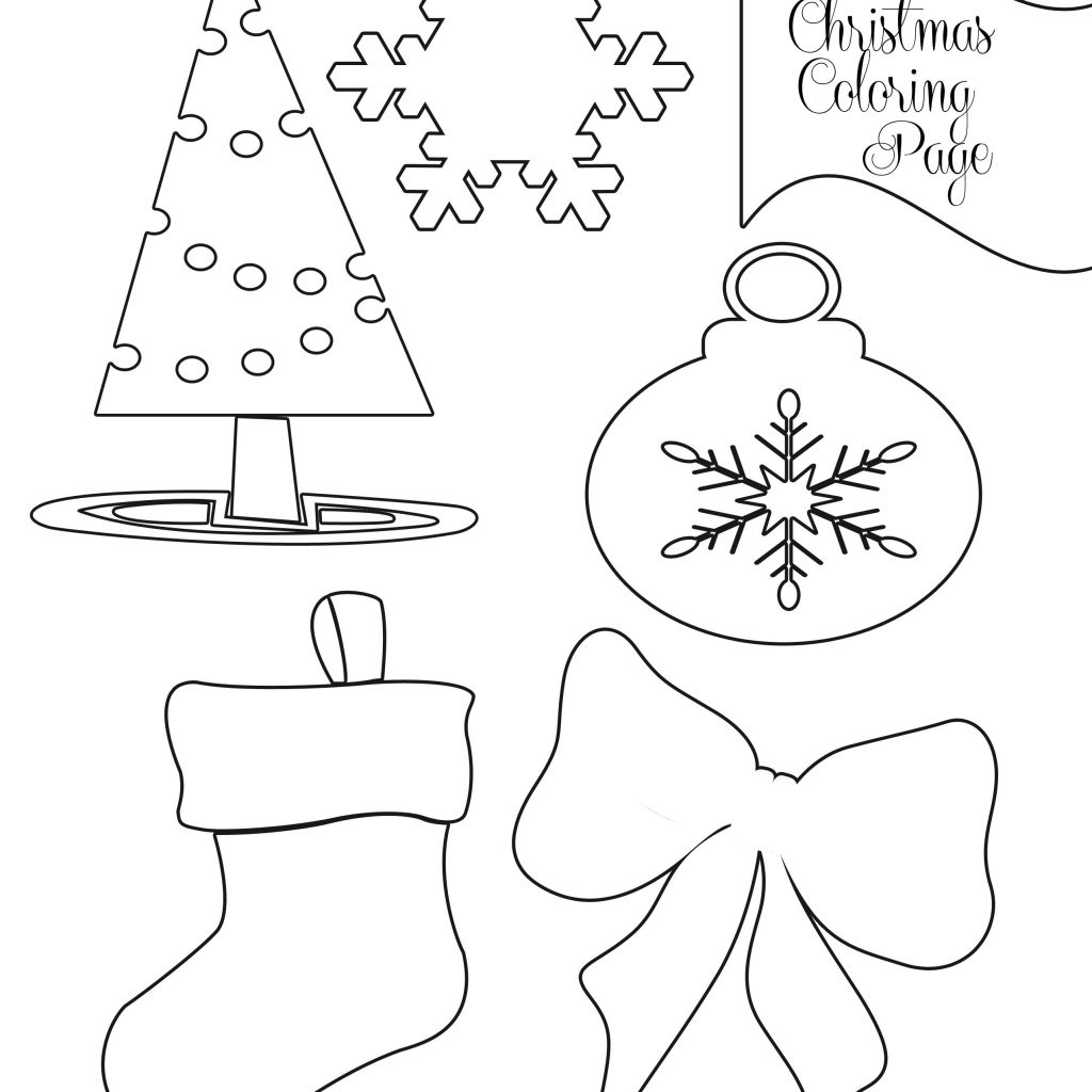 Christmas Coloring Pages For Preschoolers Printable With Free Kindergarten To Color