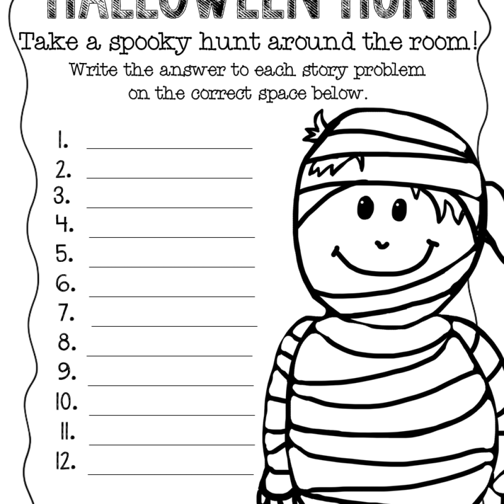 Christmas Coloring Pages For Second Graders With Halloween 3Rd