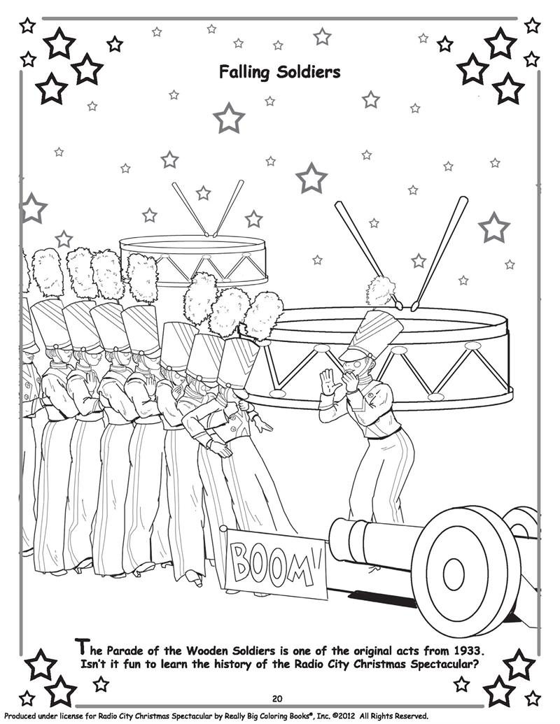 Christmas Coloring Pages For Soldiers With Books Official Radio City Spectacular Starring