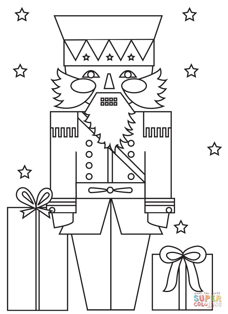 Christmas Coloring Pages For Soldiers With Nutcracker Soldier Page Free Printable