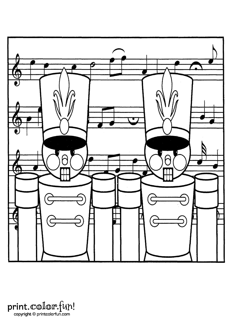 Christmas Coloring Pages For Soldiers With Toy Nutcracker Page Print Color Fun