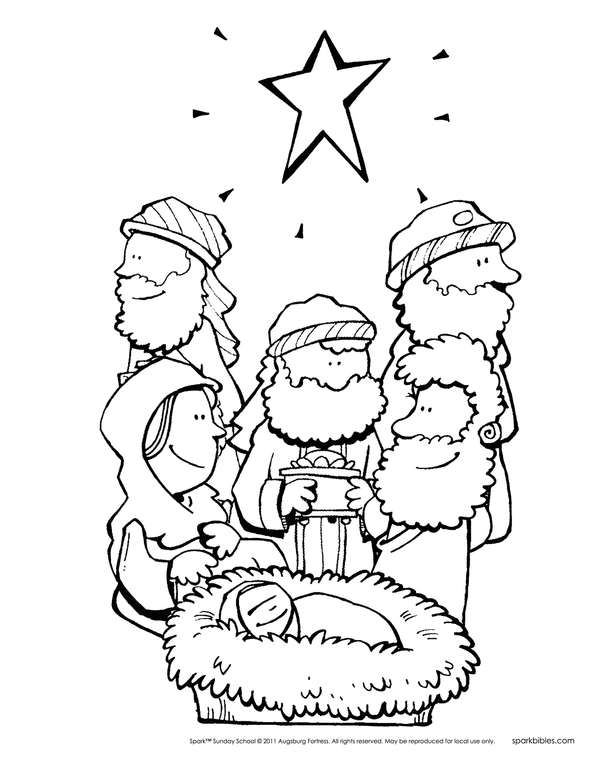 Christmas Coloring Pages For Sunday School With Bible Story Printable Archives New