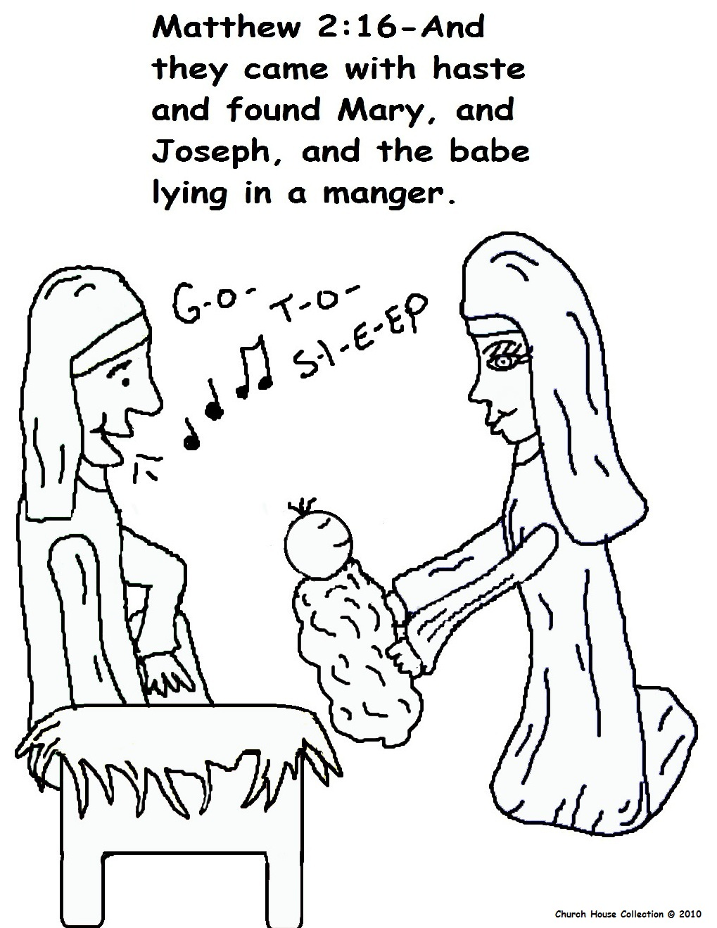 Christmas Coloring Pages For Sunday School With The Birth Of Jesus