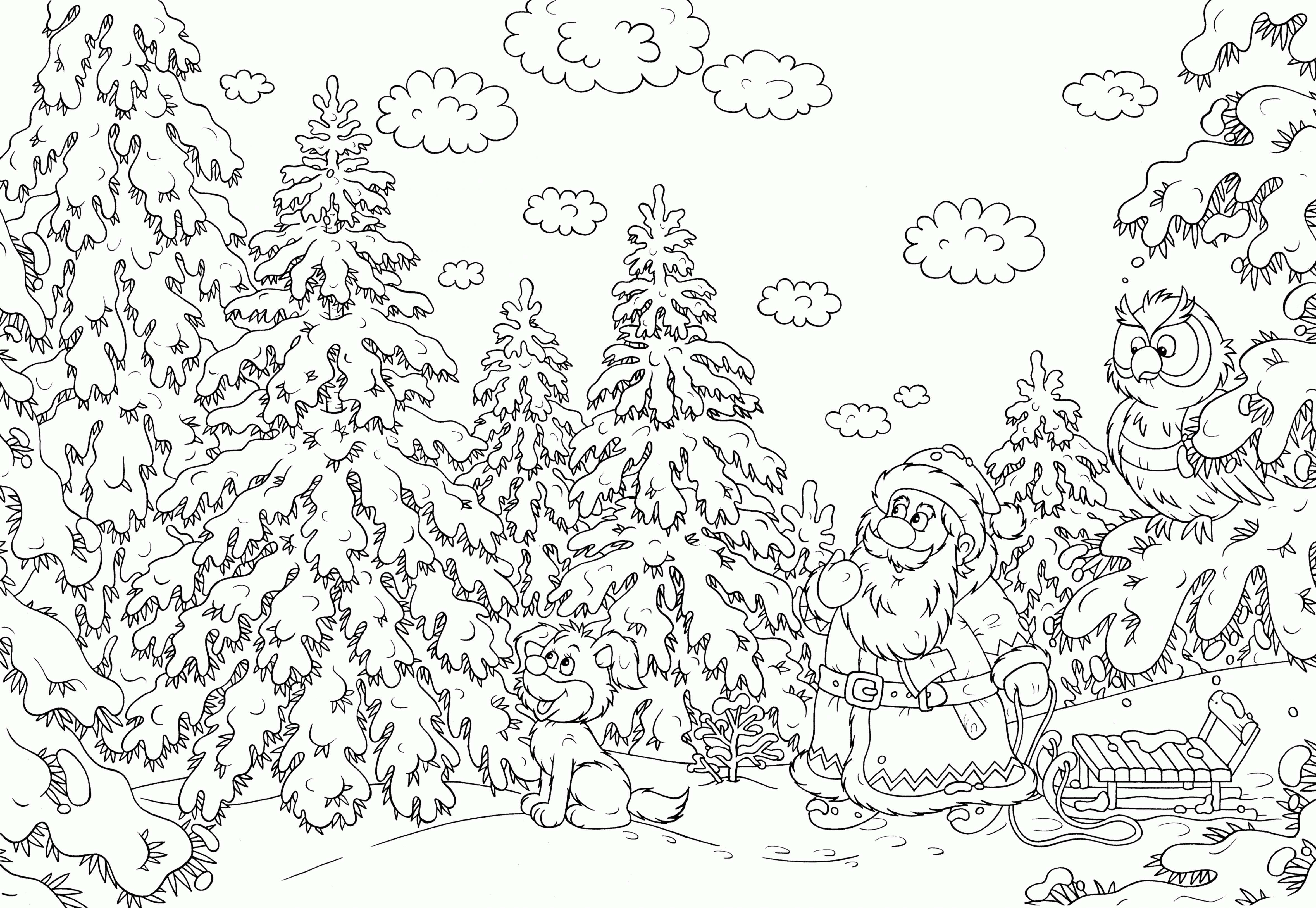 Christmas Coloring Pages For Third Graders With 3rd