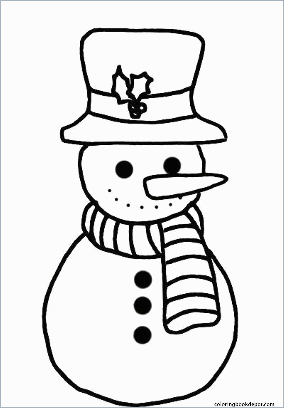 Christmas Coloring Pages For Toddlers With Easy Best Of 5 Free
