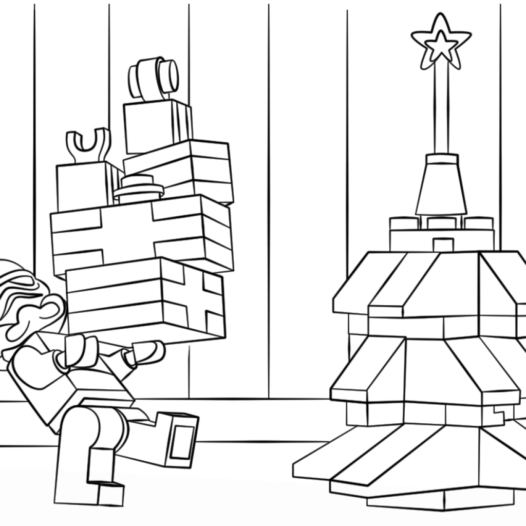 Christmas Coloring Pages Free And Printable With Lego Page For Kids