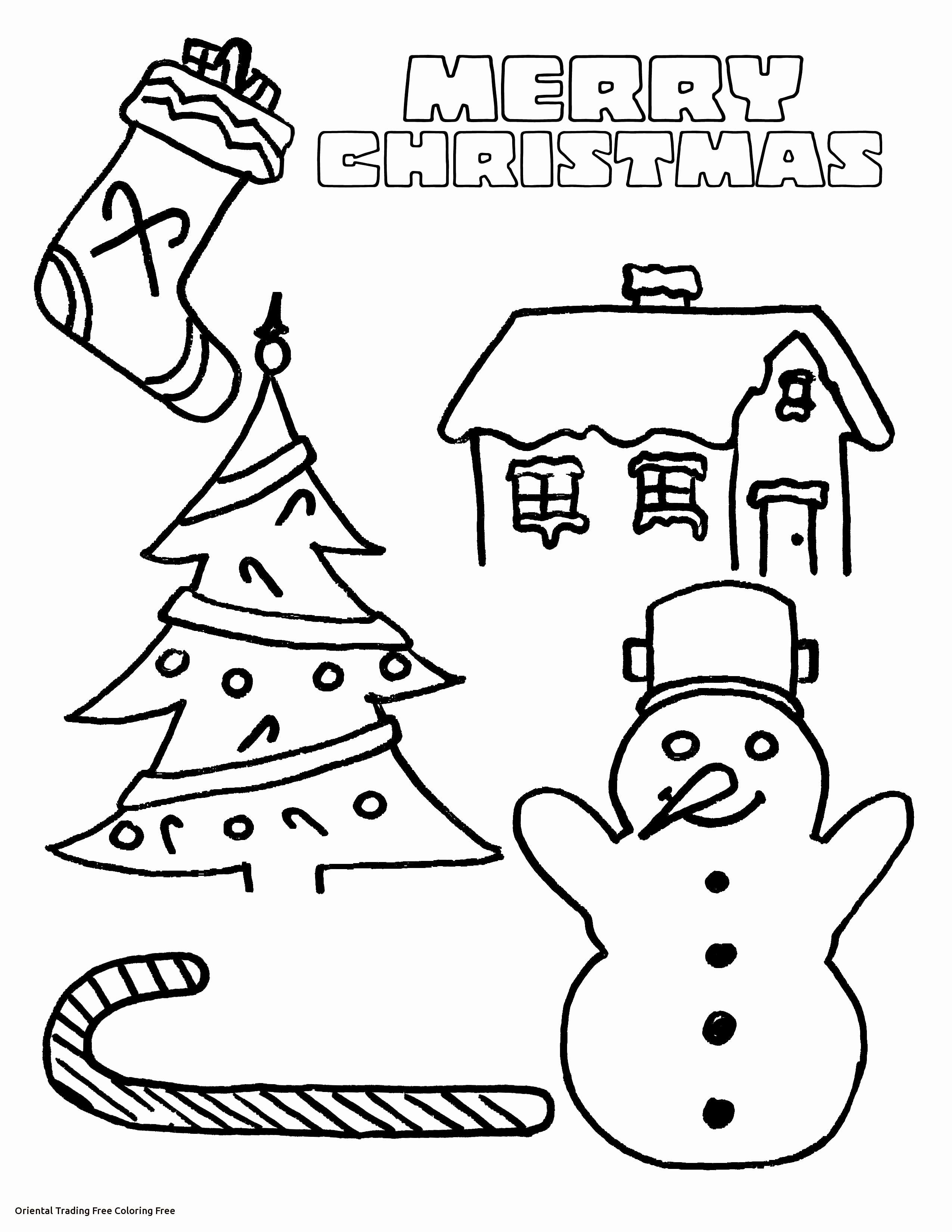 Christmas Coloring Pages Free To Print With Oriental Trading Printable
