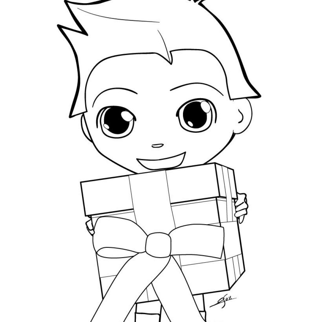 Christmas Coloring Pages Gifts With CHRISTMAS GIFT 14 Xmas Online Books And
