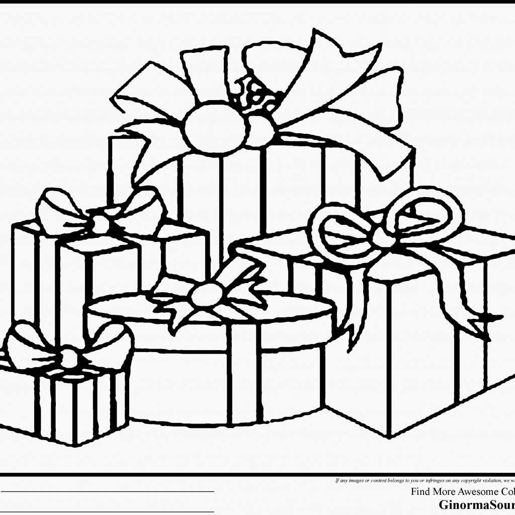 Christmas Coloring Pages Gifts With Presents Number 3 Worksheet New
