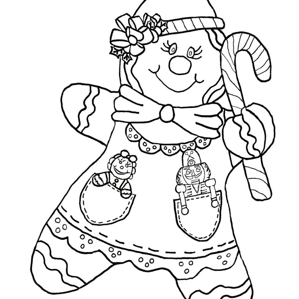 christmas-coloring-pages-gingerbread-girl-with-candy-cane-color-page-holidays-pinterest