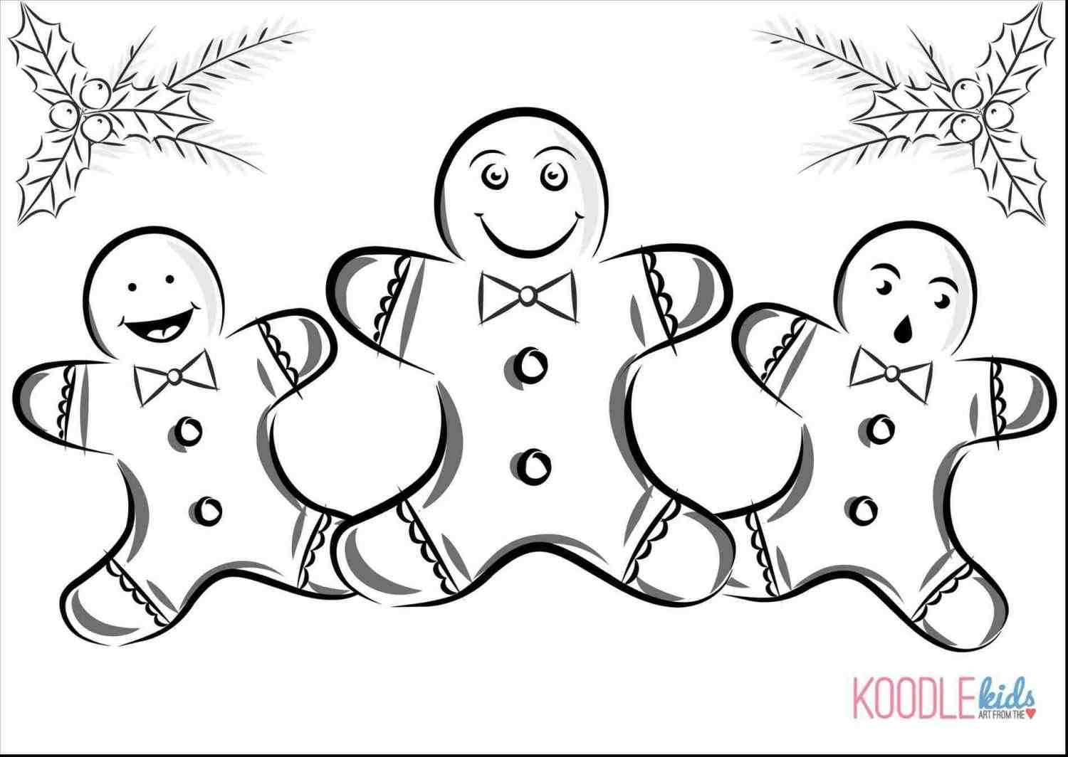 Christmas Coloring Pages Gingerbread Girl With New At Temasistemi Net