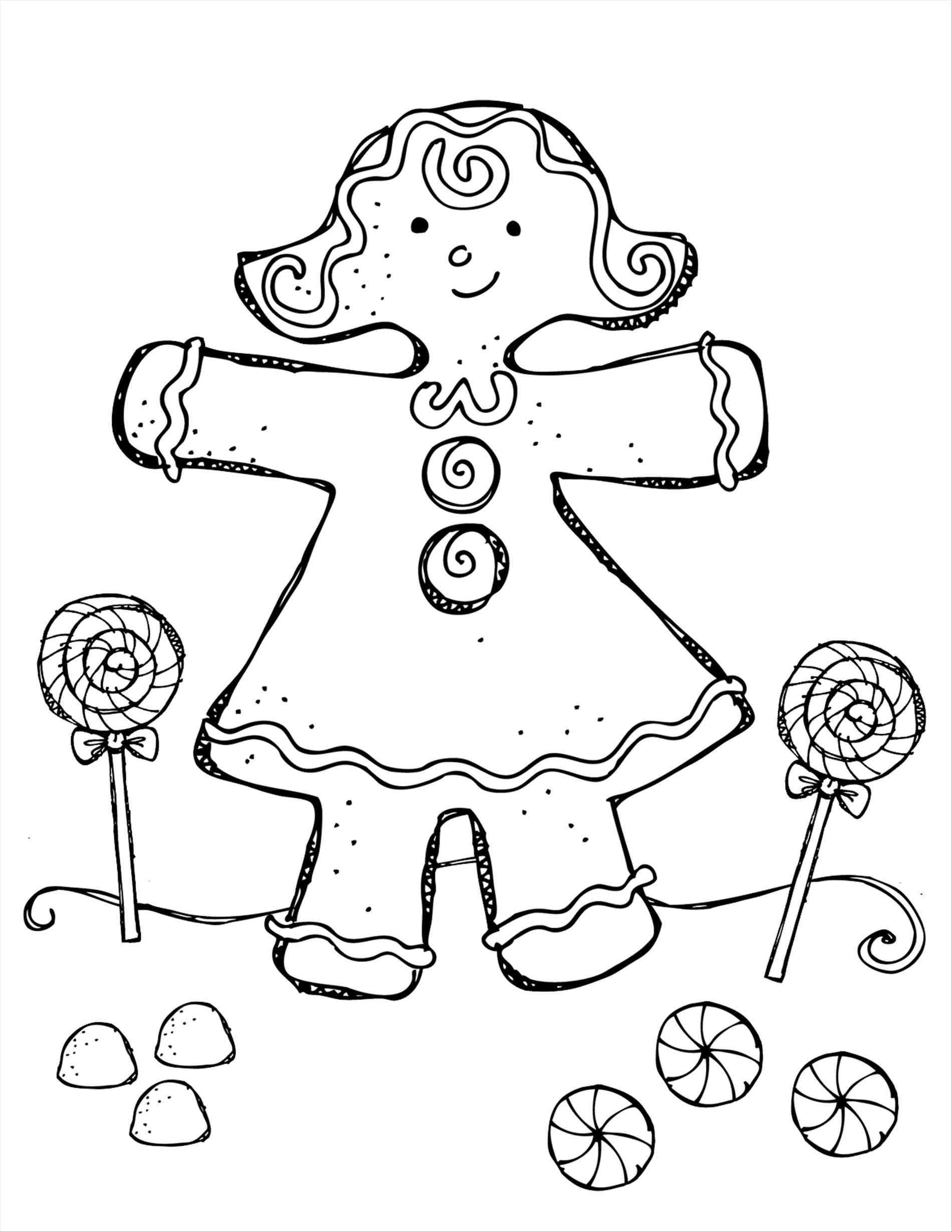 Christmas Coloring Pages Gingerbread Girl With New Post Trendingcheminee