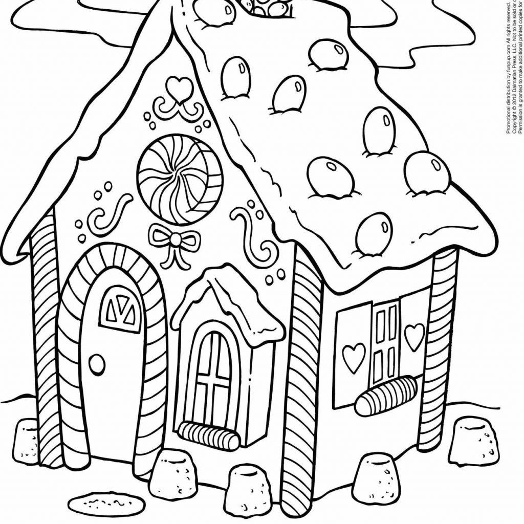 Christmas Coloring Pages Gingerbread House With For