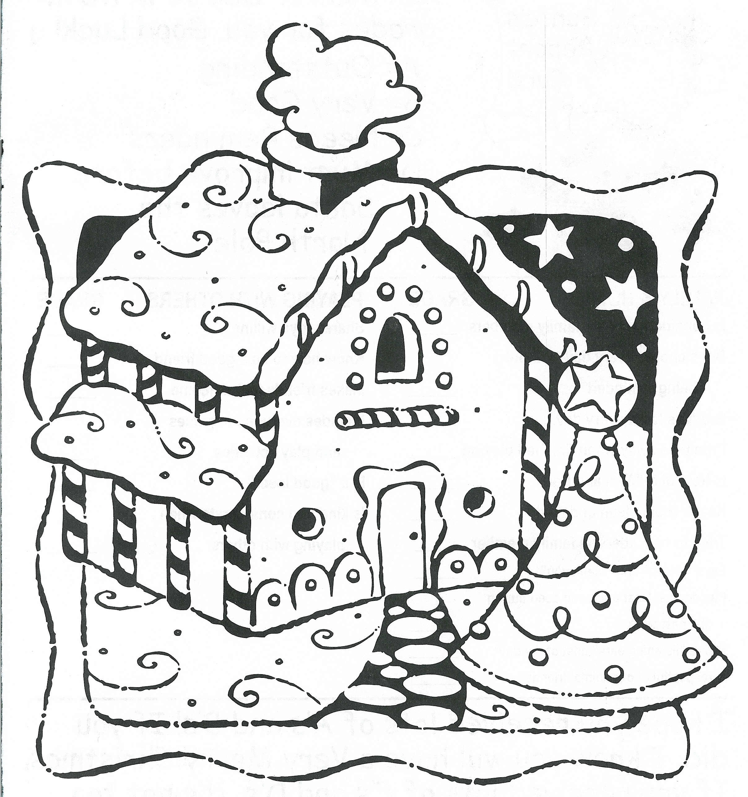 Christmas Coloring Pages Gingerbread House With New Unique