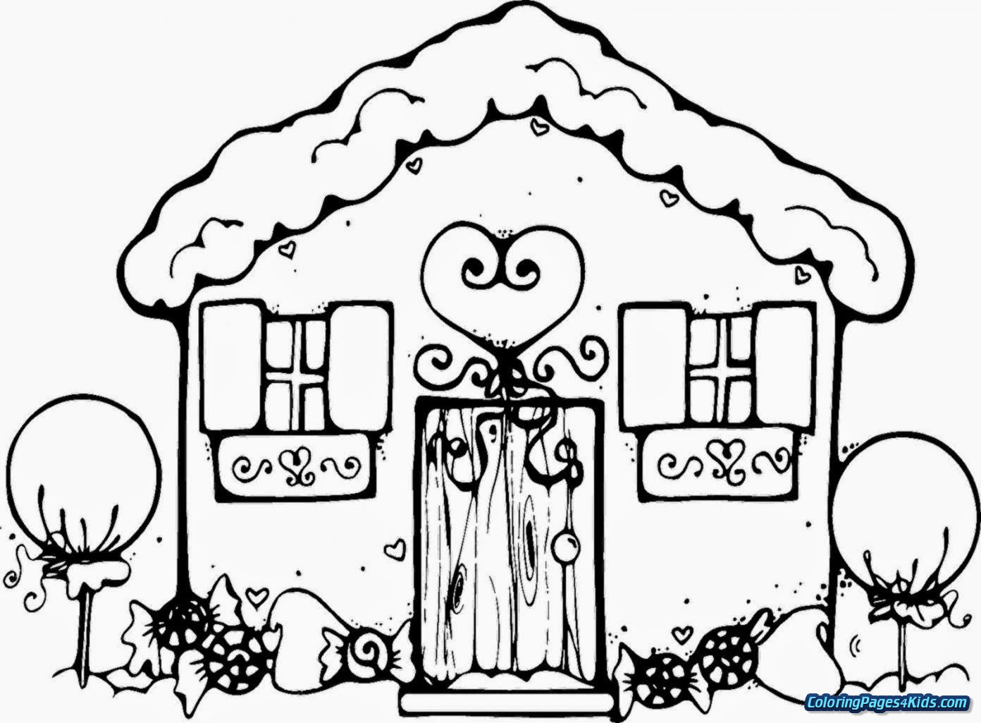Christmas Coloring Pages Gingerbread Man With For Kids
