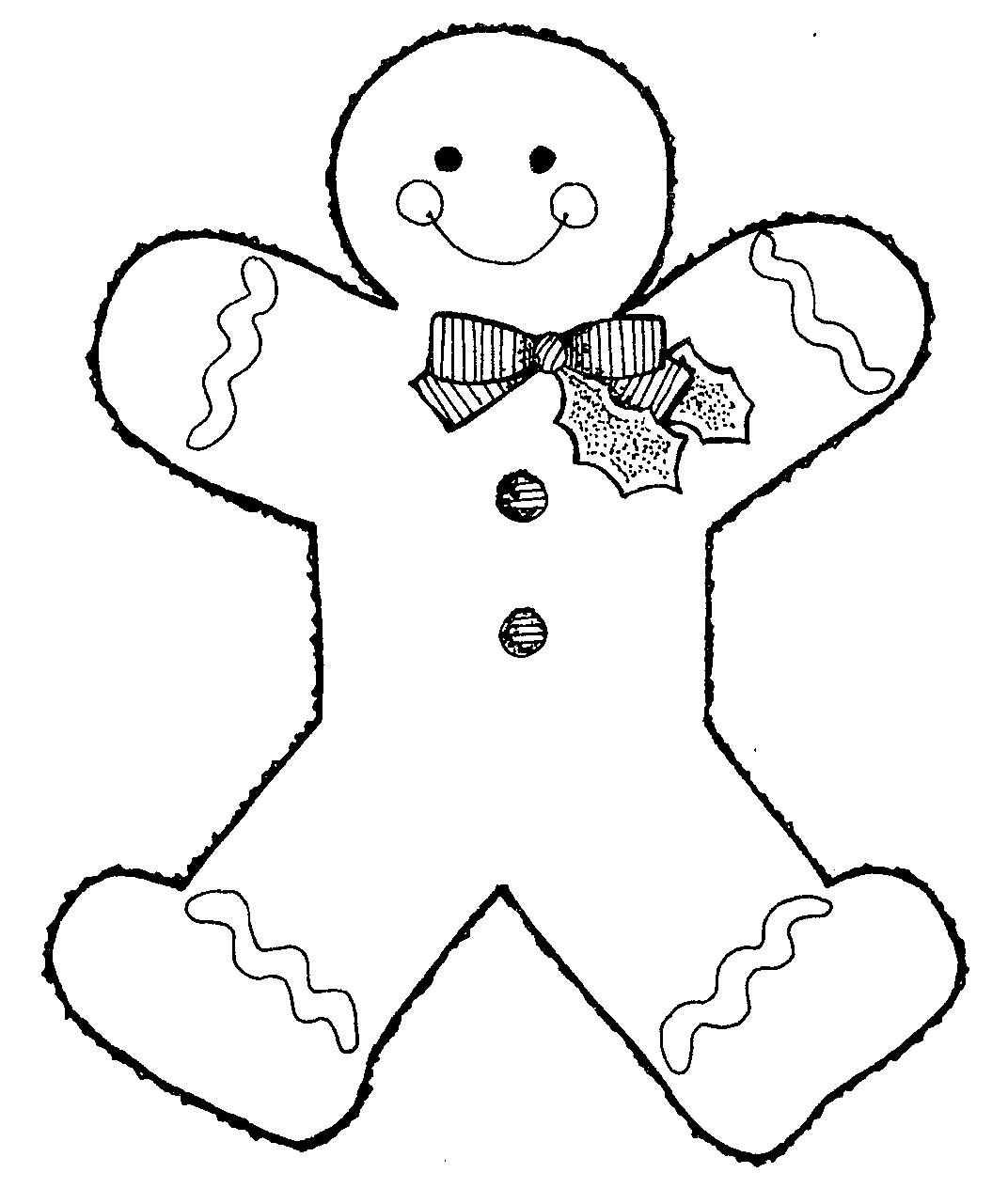 Christmas Coloring Pages Gingerbread Man With Free Printable For Kids