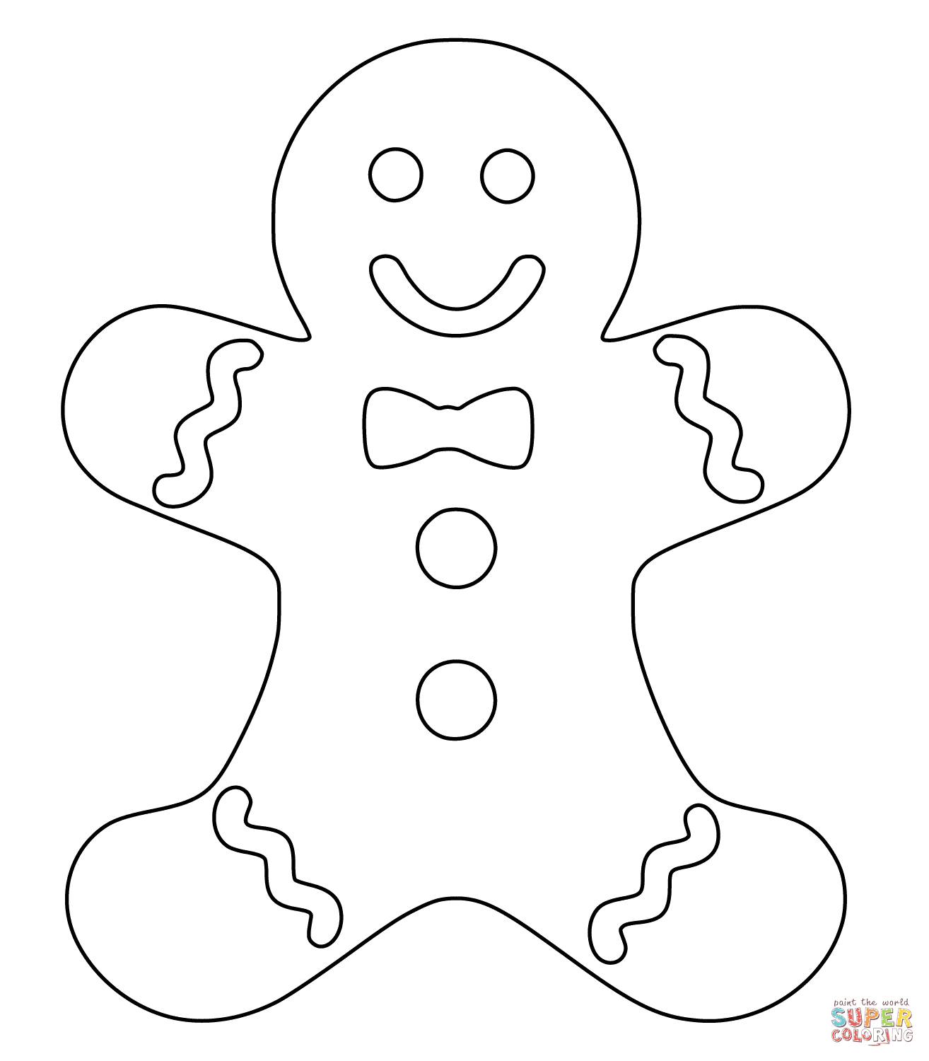 Christmas Coloring Pages Gingerbread Man With Page Free Printable