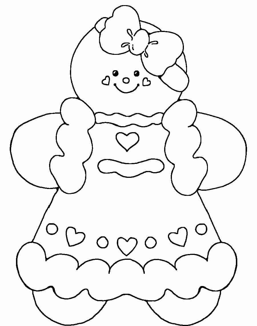 Christmas Coloring Pages Gingerbread Man With Superb For Kids House At Page