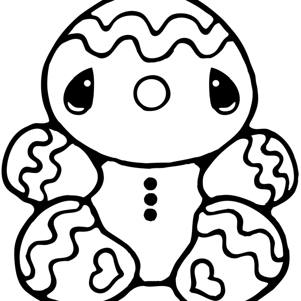Christmas Coloring Pages Gingerbread With Free