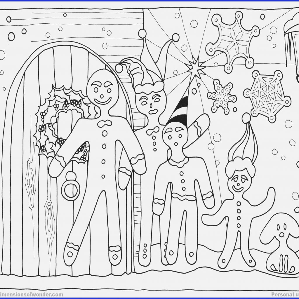 Christmas Coloring Pages Gingerbread With House Www Gsfl