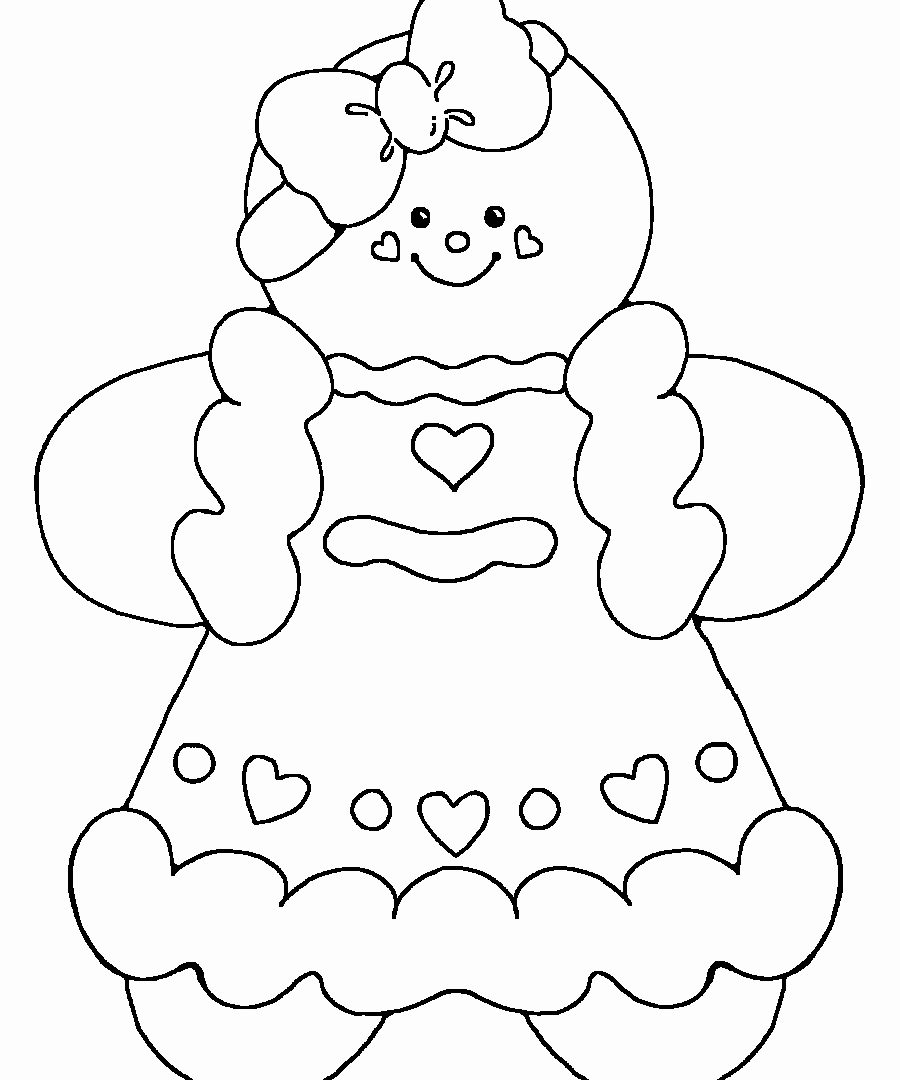 Christmas Coloring Pages Gingerbread With Man Free Library