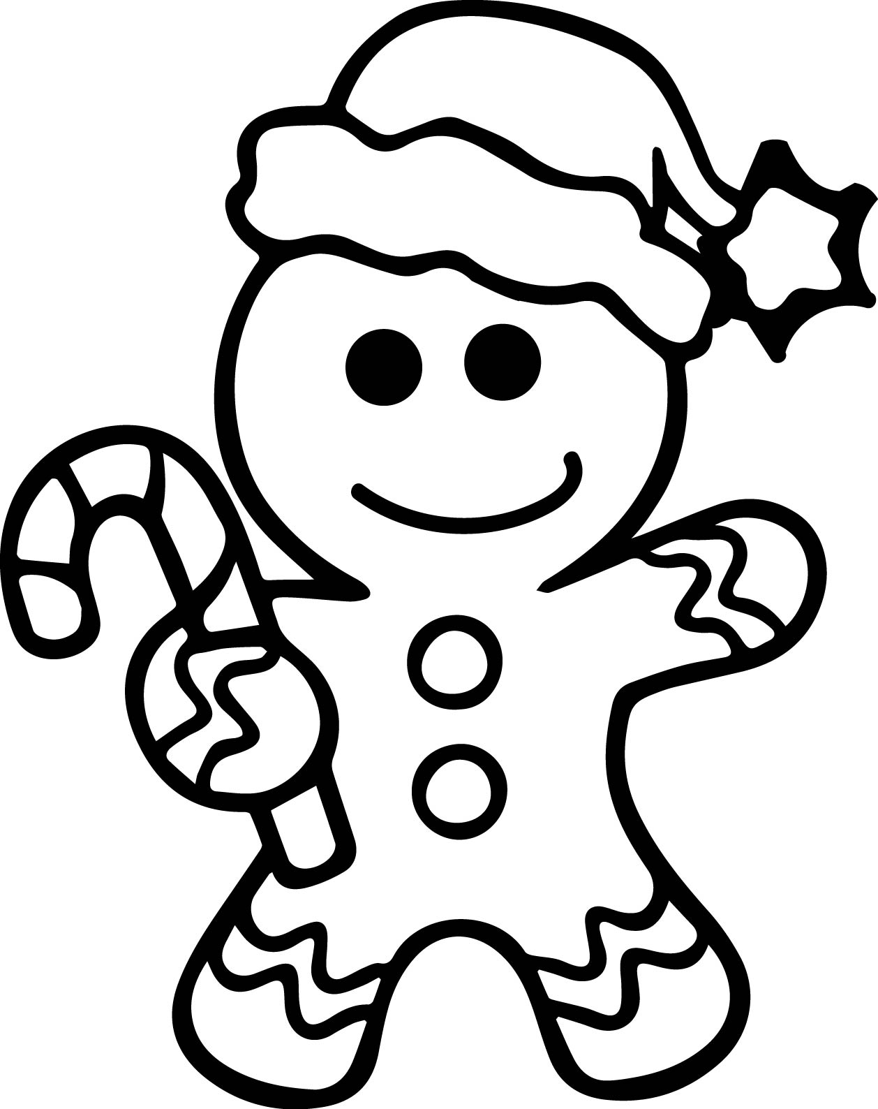 Christmas Coloring Pages Gingerbread With Man Printable