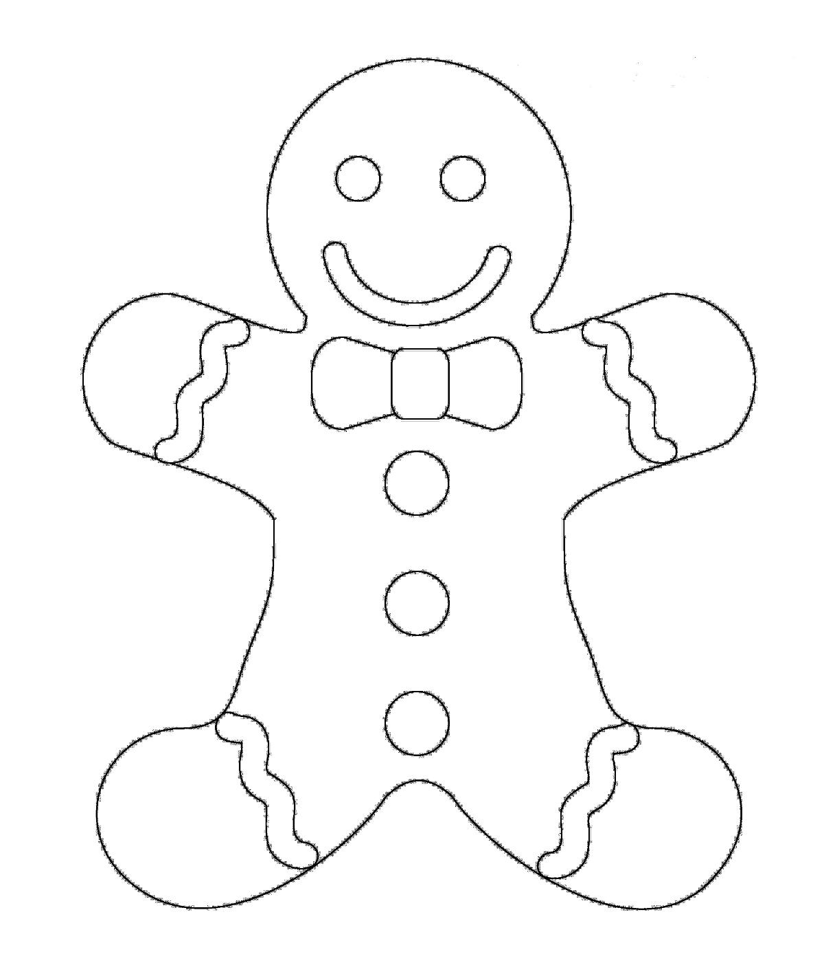 Christmas Coloring Pages Gingerbread With Printables A Man