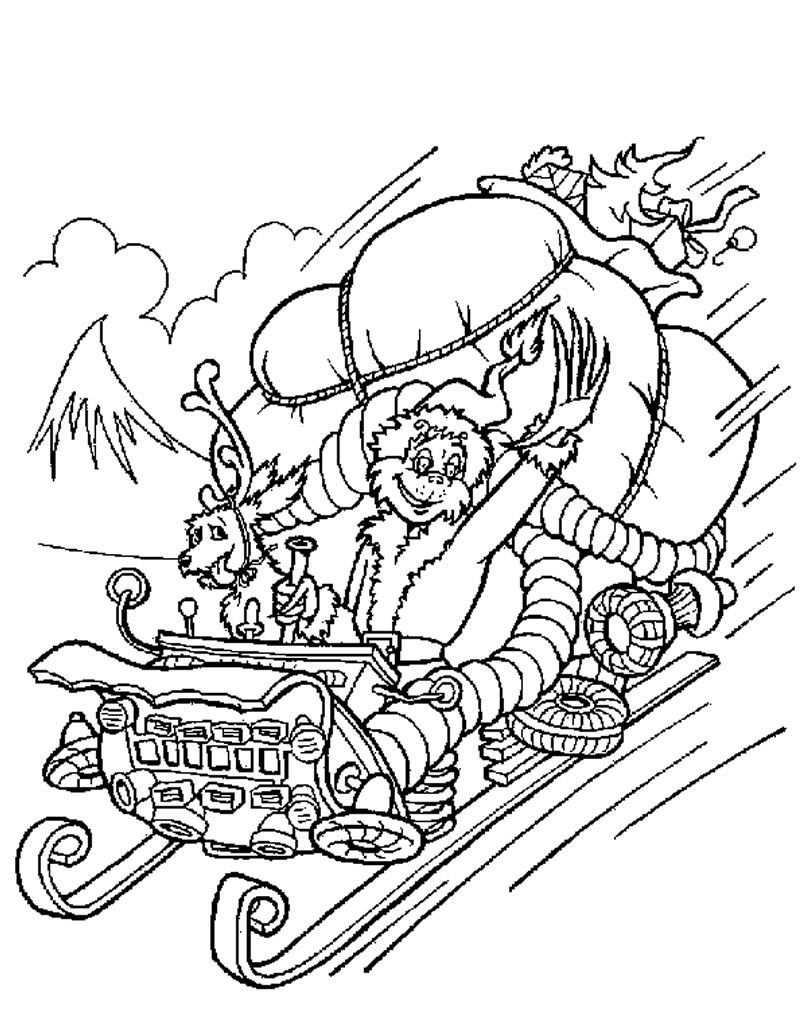 Christmas Coloring Pages Grinch With GRINCH STOLE CHRISTMAS