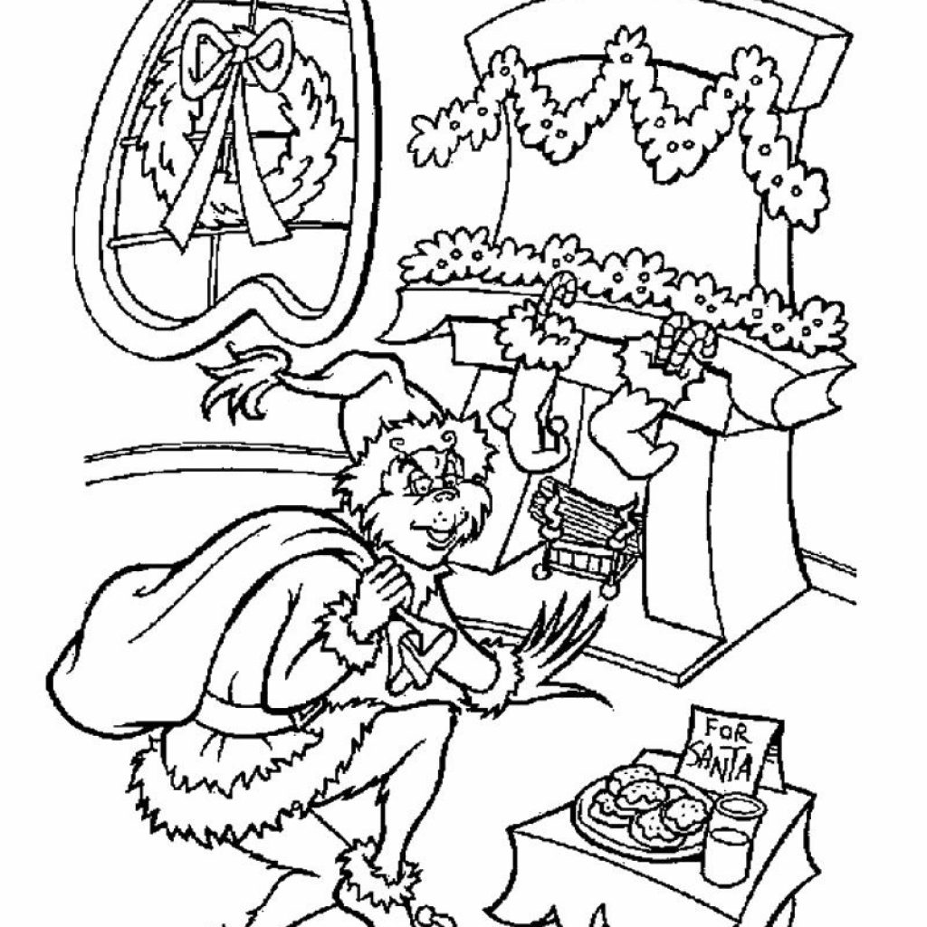 Christmas Coloring Pages Grinch With Hundreds Of Free Printable Xmas And Activity