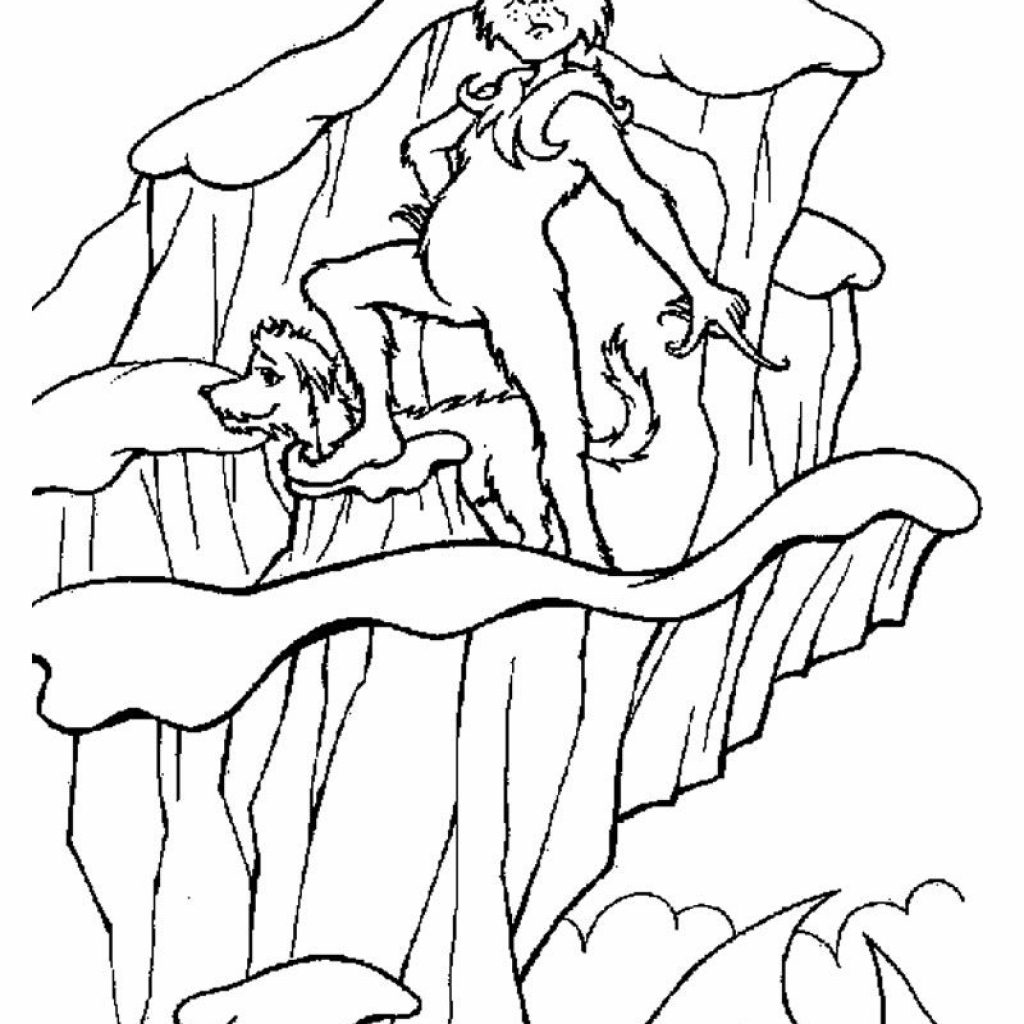Christmas Coloring Pages Grinch With Page Pinterest