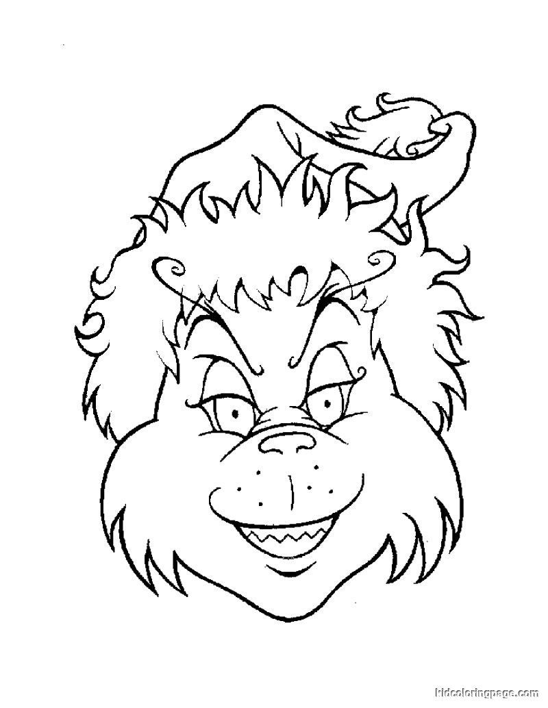 Christmas Coloring Pages Grinch With Whoville EZ Easy Pagez Pinterest