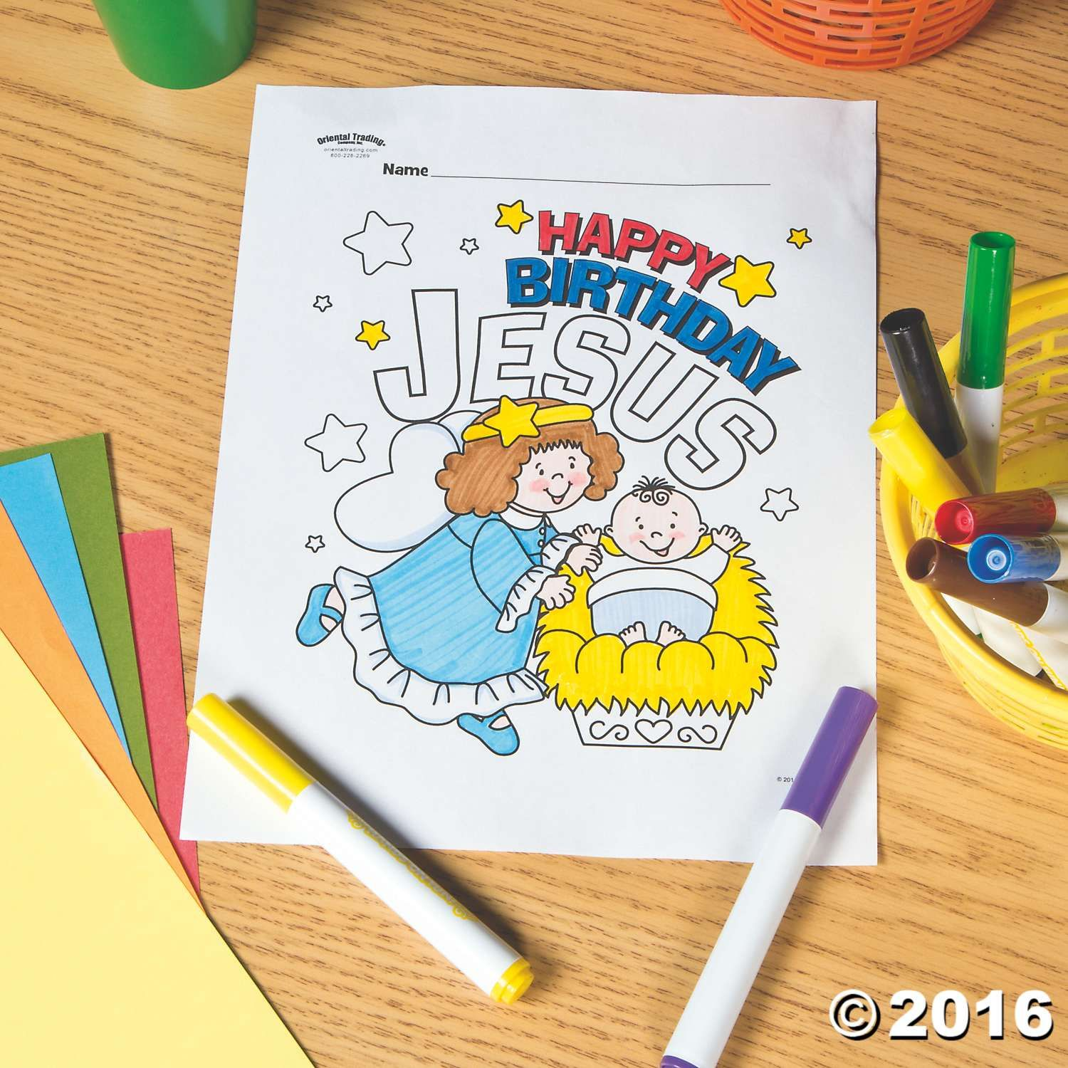 Christmas Coloring Pages Happy Birthday Jesus With Free Page Children S Church