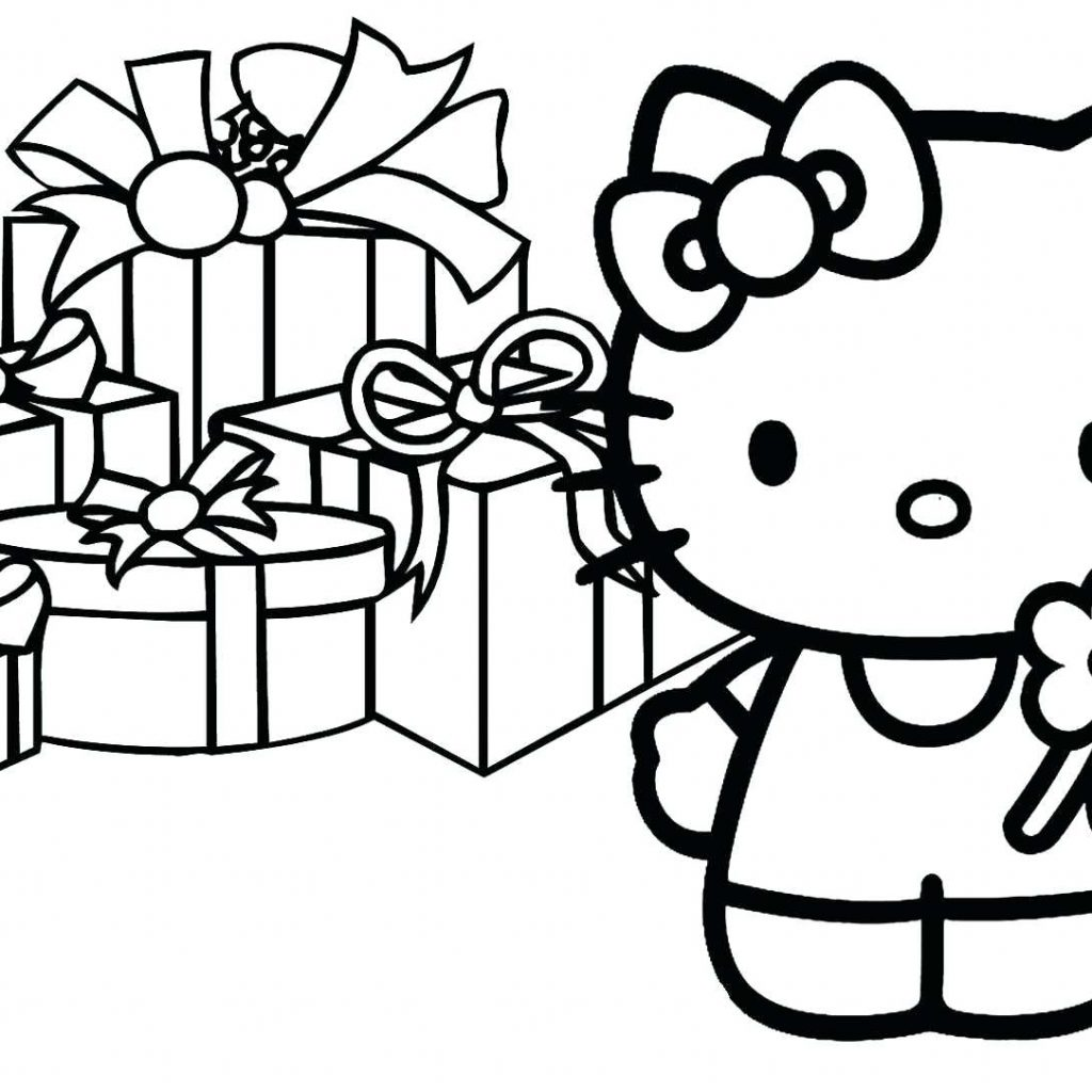 Christmas Coloring Pages Hello Kitty With Collection Of And Activity Download