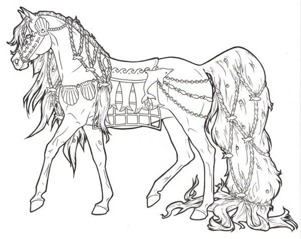 Christmas Coloring Pages Horse With Free Printable For Adults