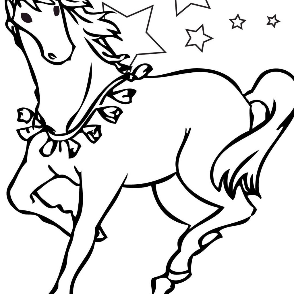Christmas Coloring Pages Horse With Fresh Codraw Co